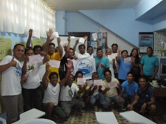 CCEF trains Tubigon Community Members on MPA Monitoring